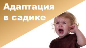 адаптация детей раннего возраста к дошкольным учреждениям
