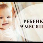 9 месяцев ребенку развитие что должен уметь